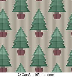boompje, seamless, achtergrond, kerstmis