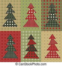boompje, set, kerstmis, 8