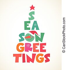 boompje, typographical, kerstmis