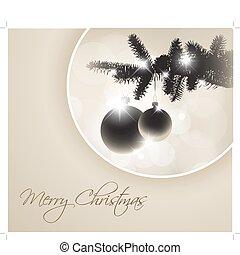 boompje, vector, silhouette, kerstmis
