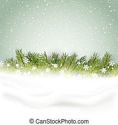 boomtakken, kerstmis