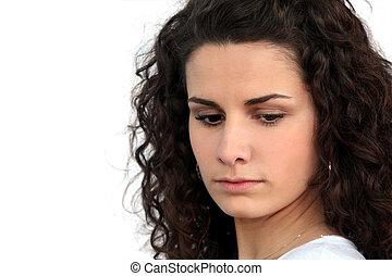 boos, jonge vrouw
