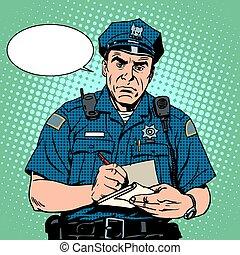 boos, politieagent