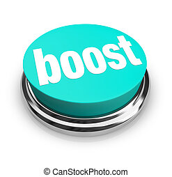 Boost - Blue Button - A blue button with the word Boost on ...