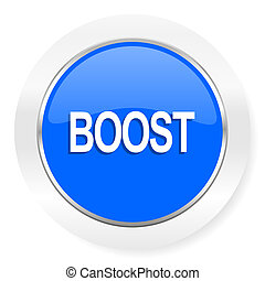 boost blue glossy web icon