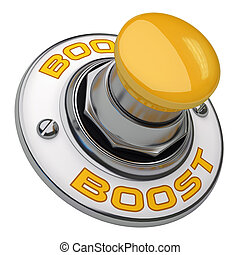Boost Button - Button rugged metal screwed on white ...