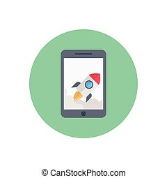 boost  flat color icon