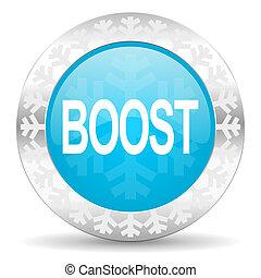 boost icon, christmas button
