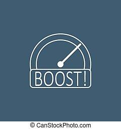 Boost speedometer