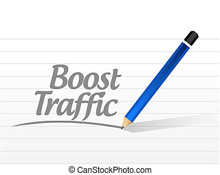 boost traffic message sign illustration design