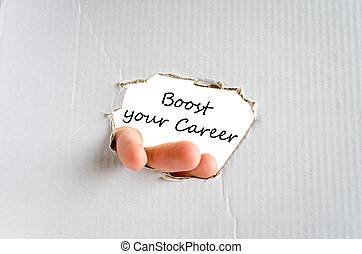 Boost your career text concept