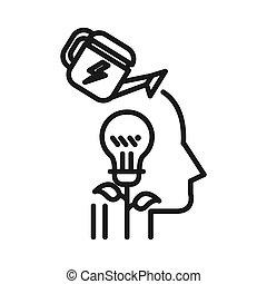 boosting, potencial, ilustración, diseño