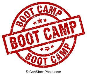 boot camp round red grunge stamp
