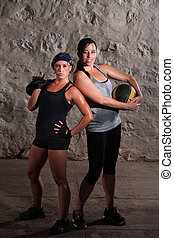 Boot Camp Training Ladies Posing