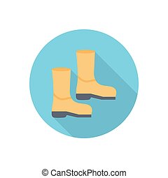 boot  flat color icon