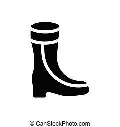 boot  glyph flat icon