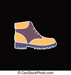 Boot icon, cartoon style