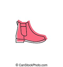 Boot icon, doodle style