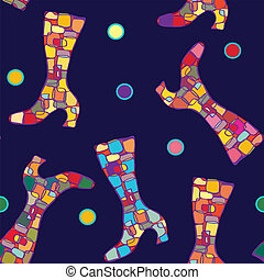 Boot seamless bright abstract pattern