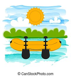 boot, tropische , fluß