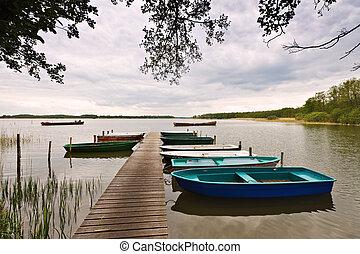 Boote,  Brandenburg,  (germany), See, Markierung