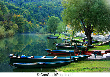 boote, crnojevica, fluß, montenegro