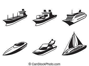 boote, schiffe, perspektive, meer