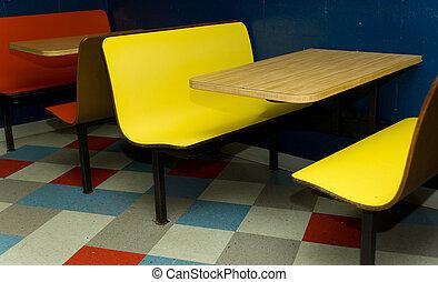 Booth at diner - Vintage booth at diner, cafe or restaurant