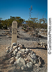 boothill, friedhof, grabstein, arizona