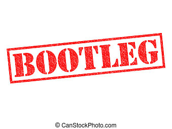 BOOTLEG red Rubber Stamp over a white background.