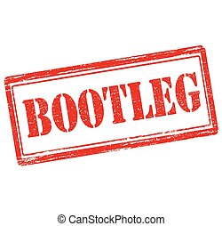 Bootleg - Rubber stamp with word bootleg inside, vector...