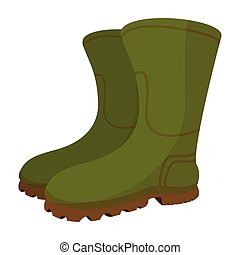 Boots cartoon icon isolated on a white background