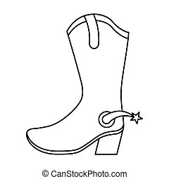 boots cowboy wild west