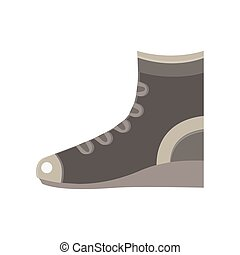 Boots flat vector icon design elegance sport fashion foot hiking retro shoe sign style isolated