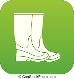 Boots icon digital green