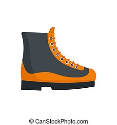 Boots icon, flat style