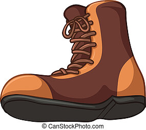 Boots - Illustration of a boots on a white background
