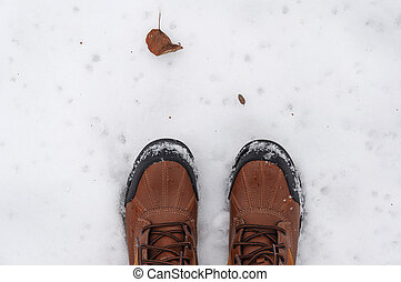 boots on the snow