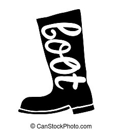 Boots with an inscription