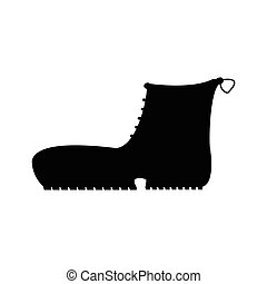 Boots with crampons isolated on white background. Vector illustration.