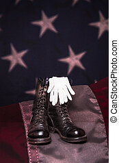 Boots with Flag