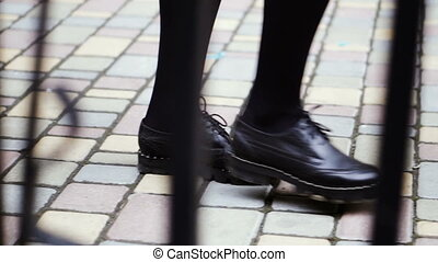 Boots. Women's legs in shoes