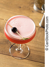 Boozy Bitter Campari Sour with Gin and Eggwhite