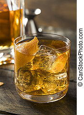 Boozy Homemade Old Fashioned Bourbon on the Rocks