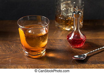 Boozy Refreshing Rye Whiskey Vieux Carre Cocktail with ...