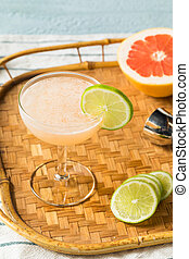 Boozy Rum Hemingway Daiquiri with LIme and Grapefruit