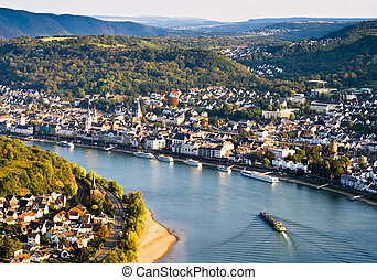 Boppard, Germany - Bird\'s eye view of Boppard on the Rhine