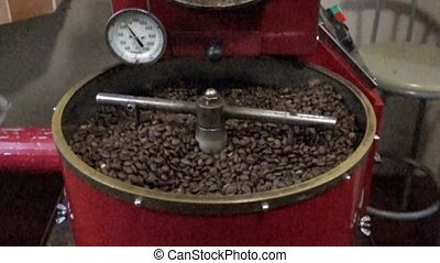 Boquete, Panama - 20171203 - Slow Motion Coffee Roasting. -...