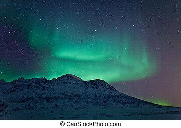 boréal, aurore, lights), (northern