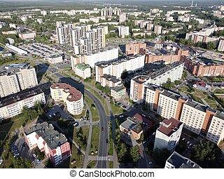 bor, russia., aéreo, leningrado, región, foto, sosnovy